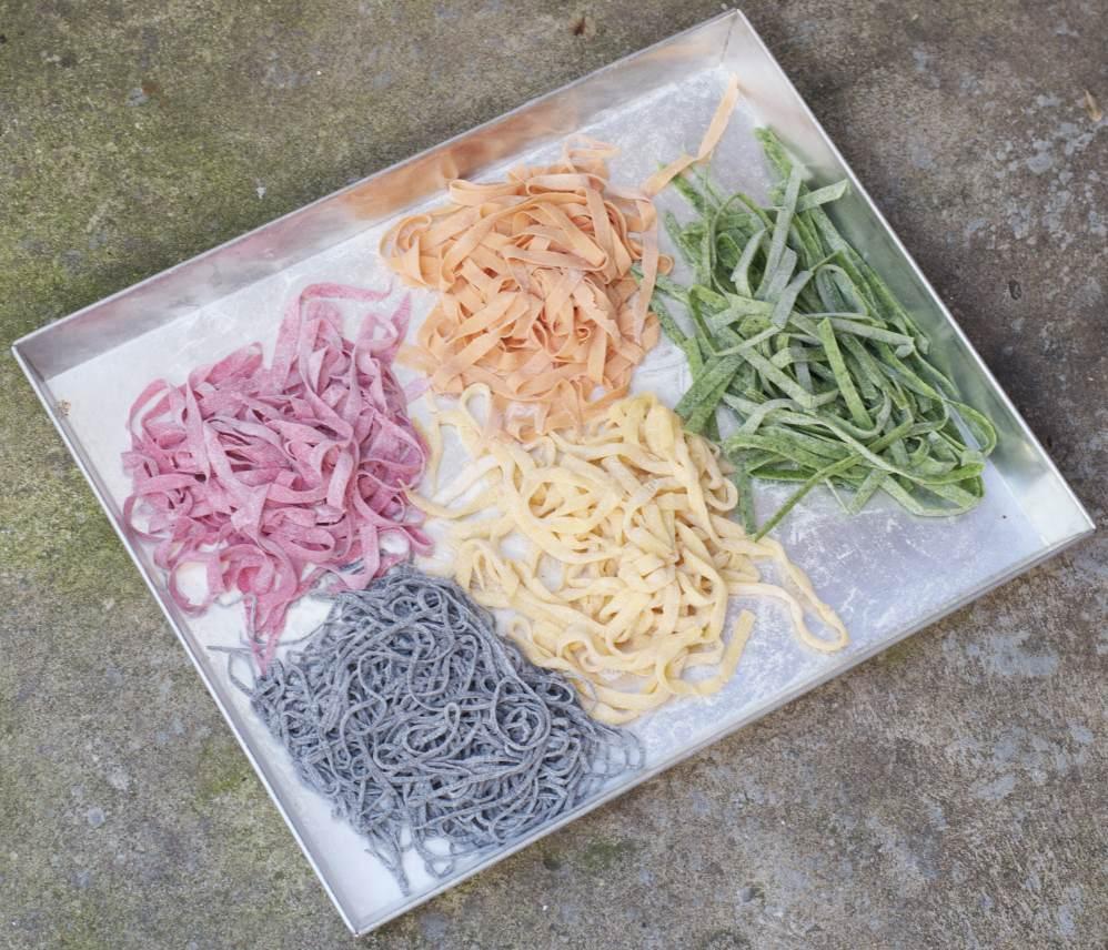 Het resultaat! Perfecte pasta in prachtige kleuren