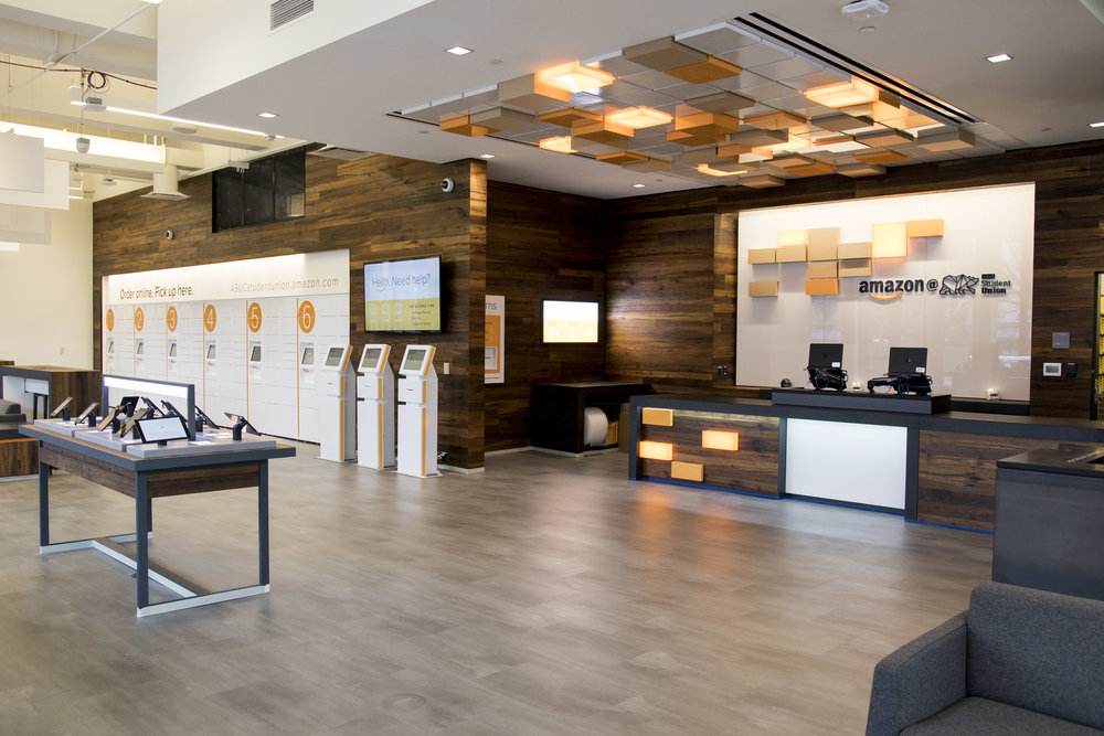 Amazon@ASUCStudentUnion interior shot published here.