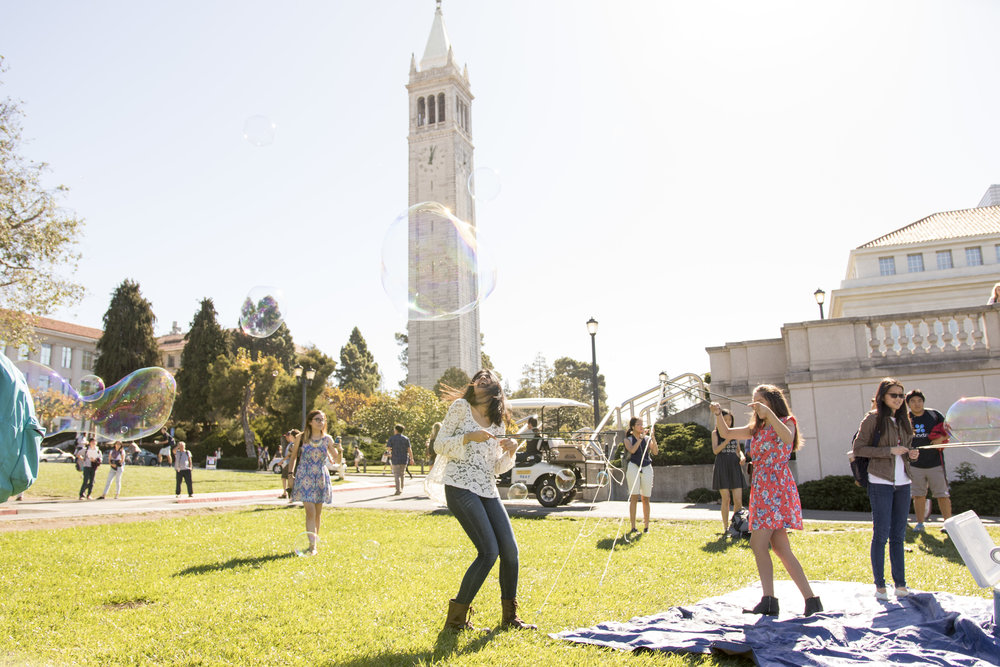 Literally, Bubbles: student group event at UC Berkeley