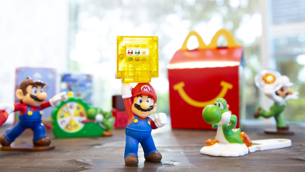 Product lifestyle imagery for the Nintendo of America and McDonald's partnership.