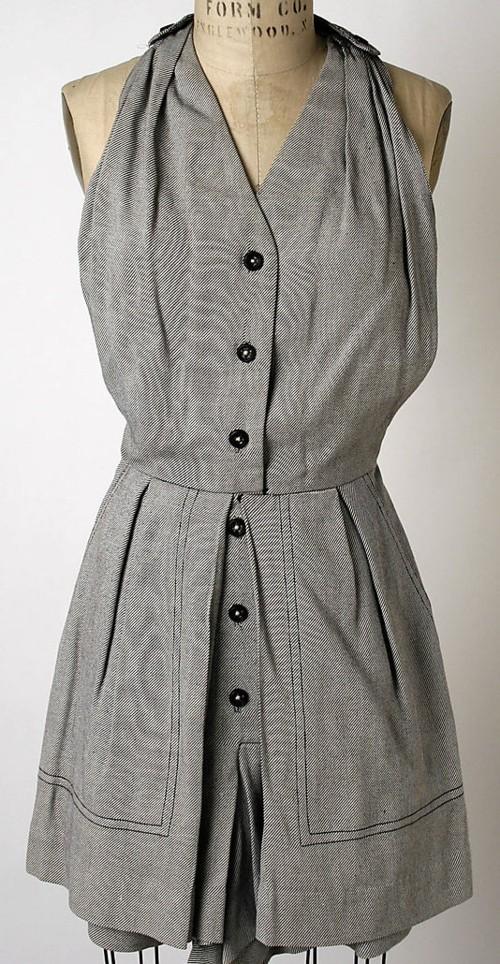 grey vintage halter dress