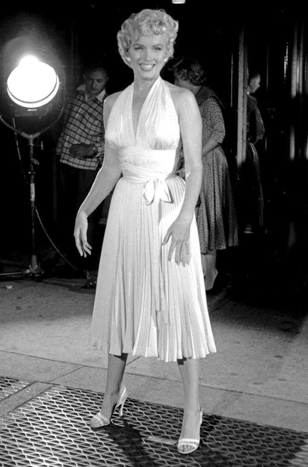 Marilyn Monroe white halter dress