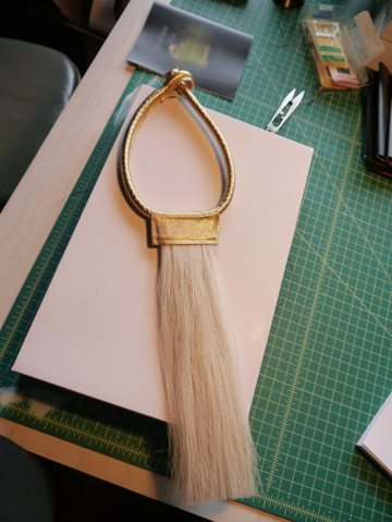 Gold Horsehair Necklace