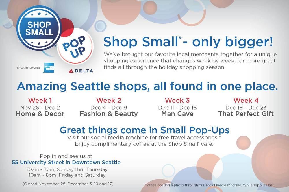 Shop Small pop up