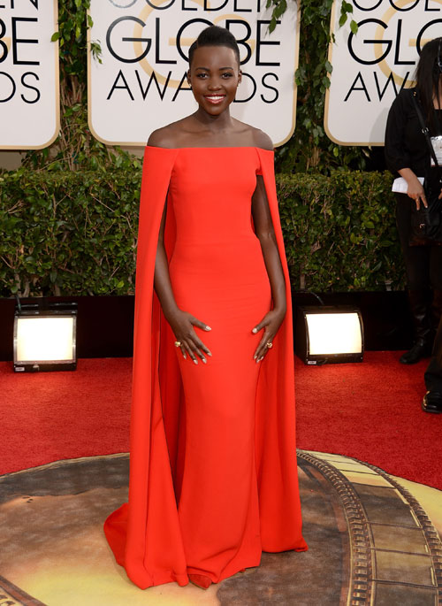 Lupita Nyong'o red dress