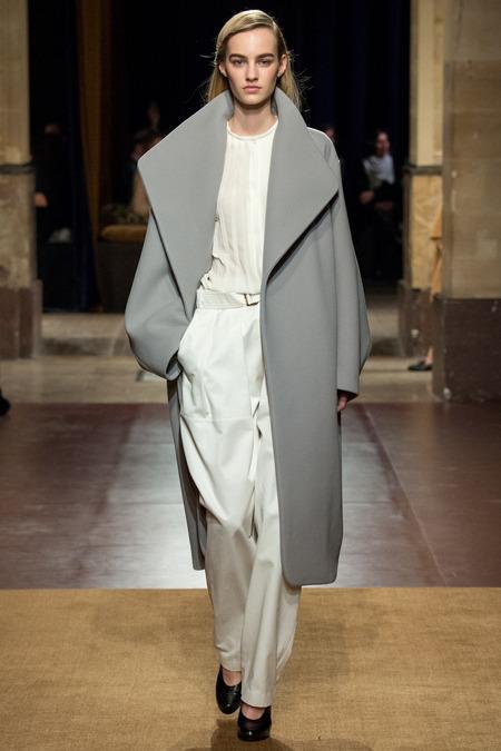 lemaire white pant suit
