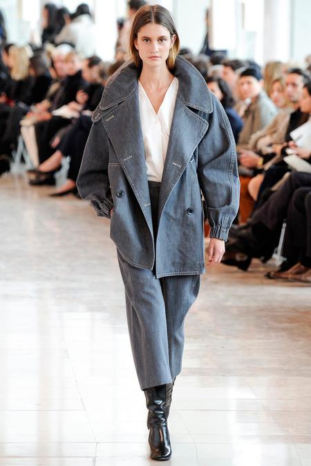 lemaire grey pant suit