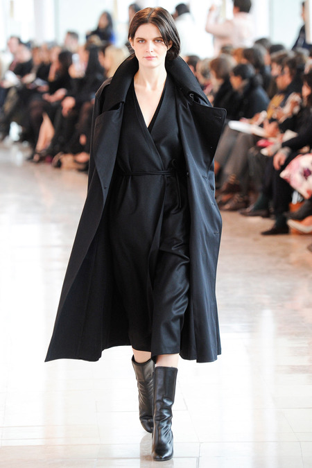lemaire black wrap dress