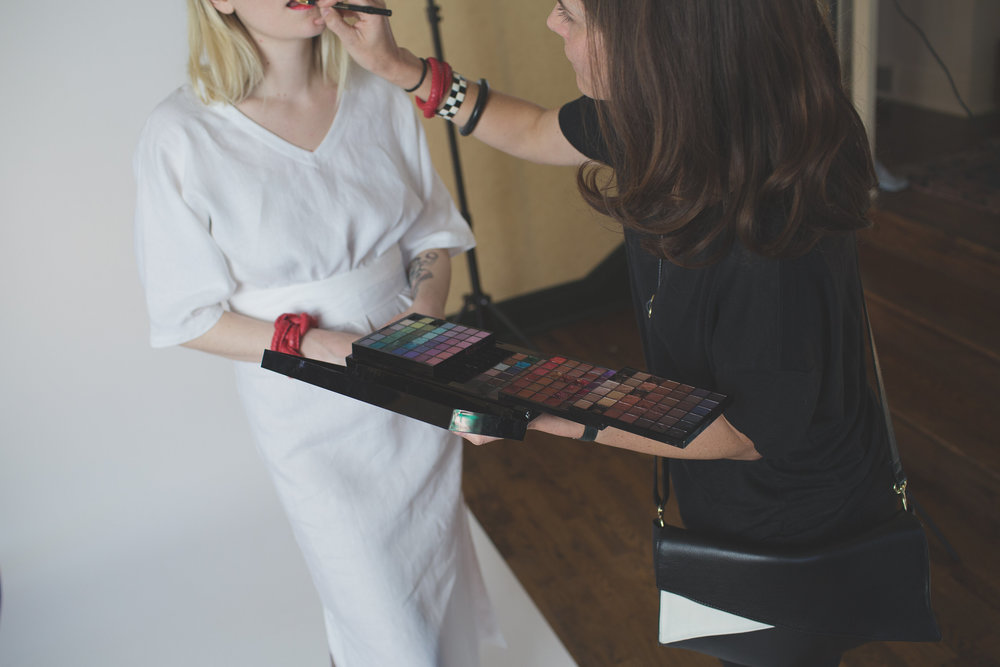 makeup artist photoshoot