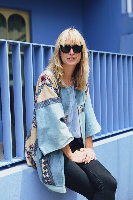 denim jean kimono
