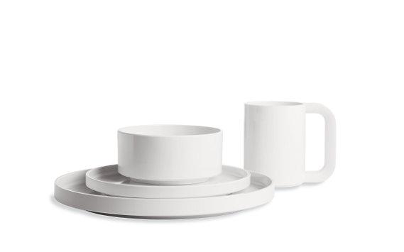 Massimo Vignelli Heller white dishware