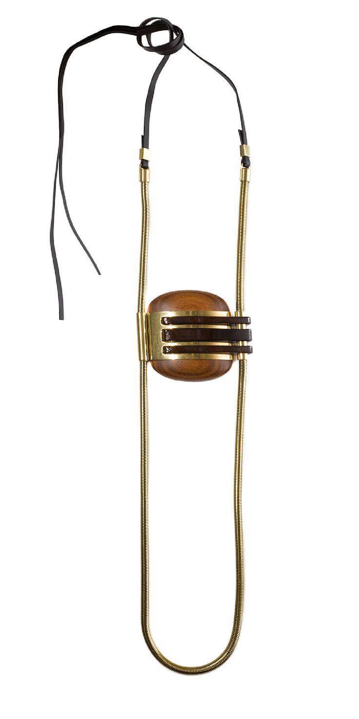 gold Lanvin pendant necklace