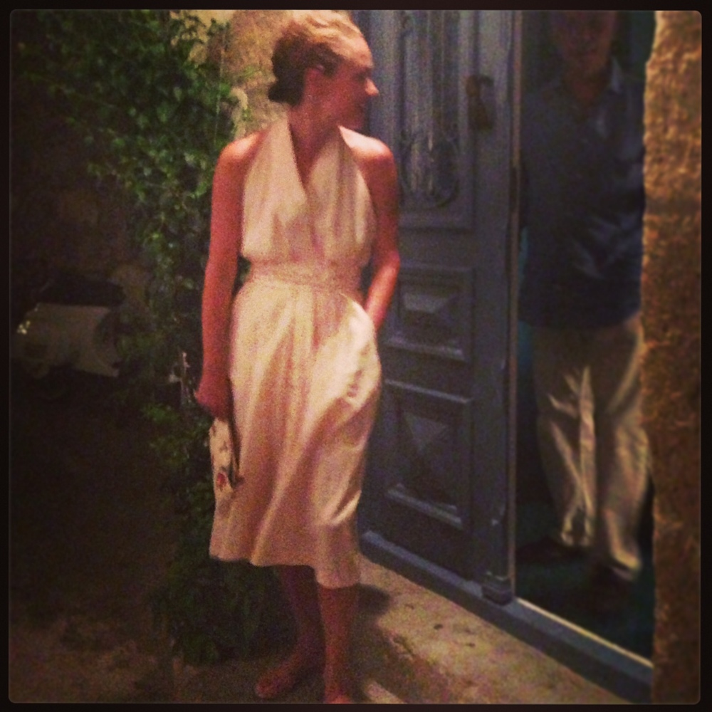 Jennie in THE DRESS / pink hemp. Limited to edition of 2. Greece 2013