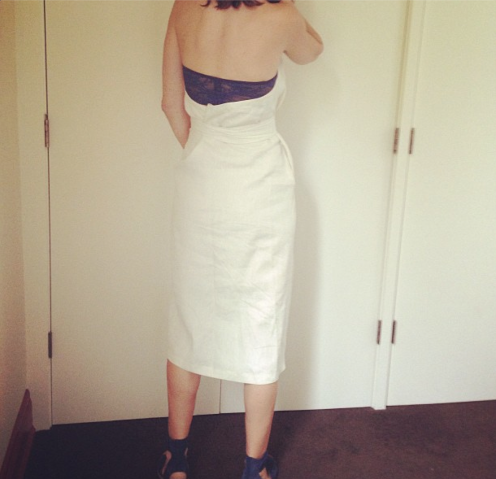 Jen in THE DRESS / linen. One-of-a-kind. Seattle 2013