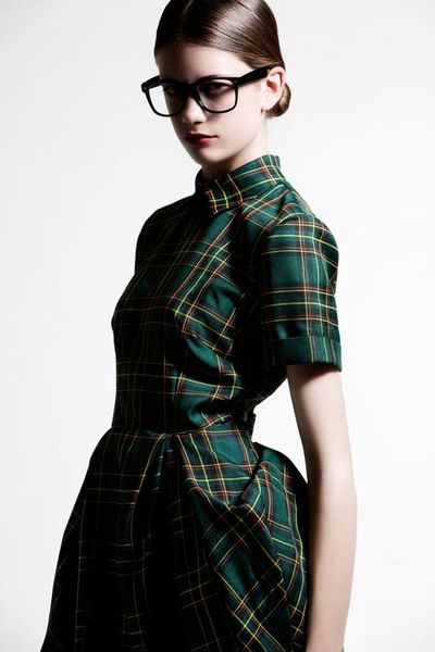 Green Scottish Tartan Dress