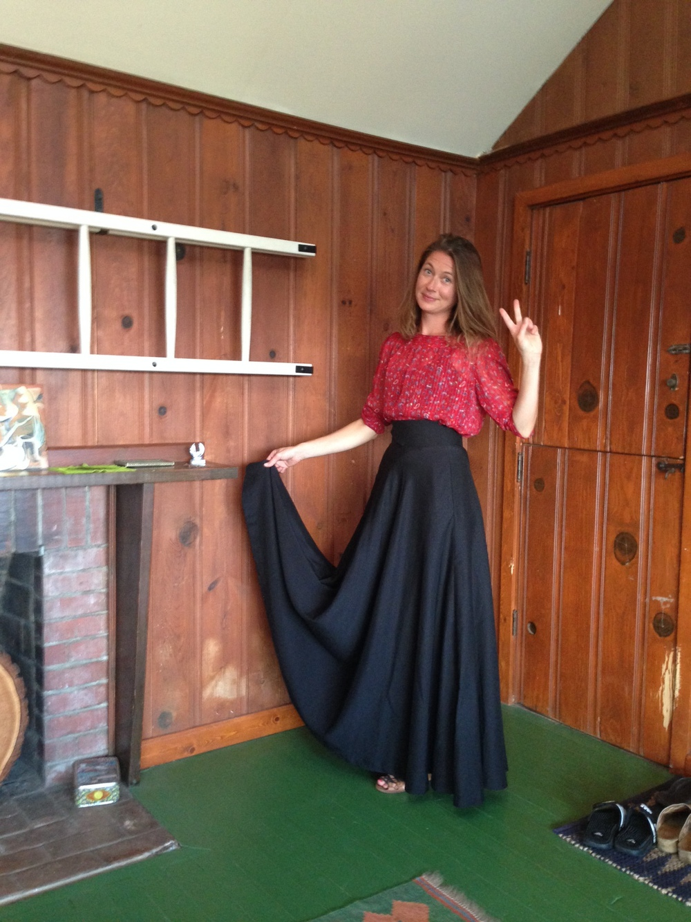 Amanda in THE SKIRT / black cotton hemp. Limited. Los Angeles 2014
