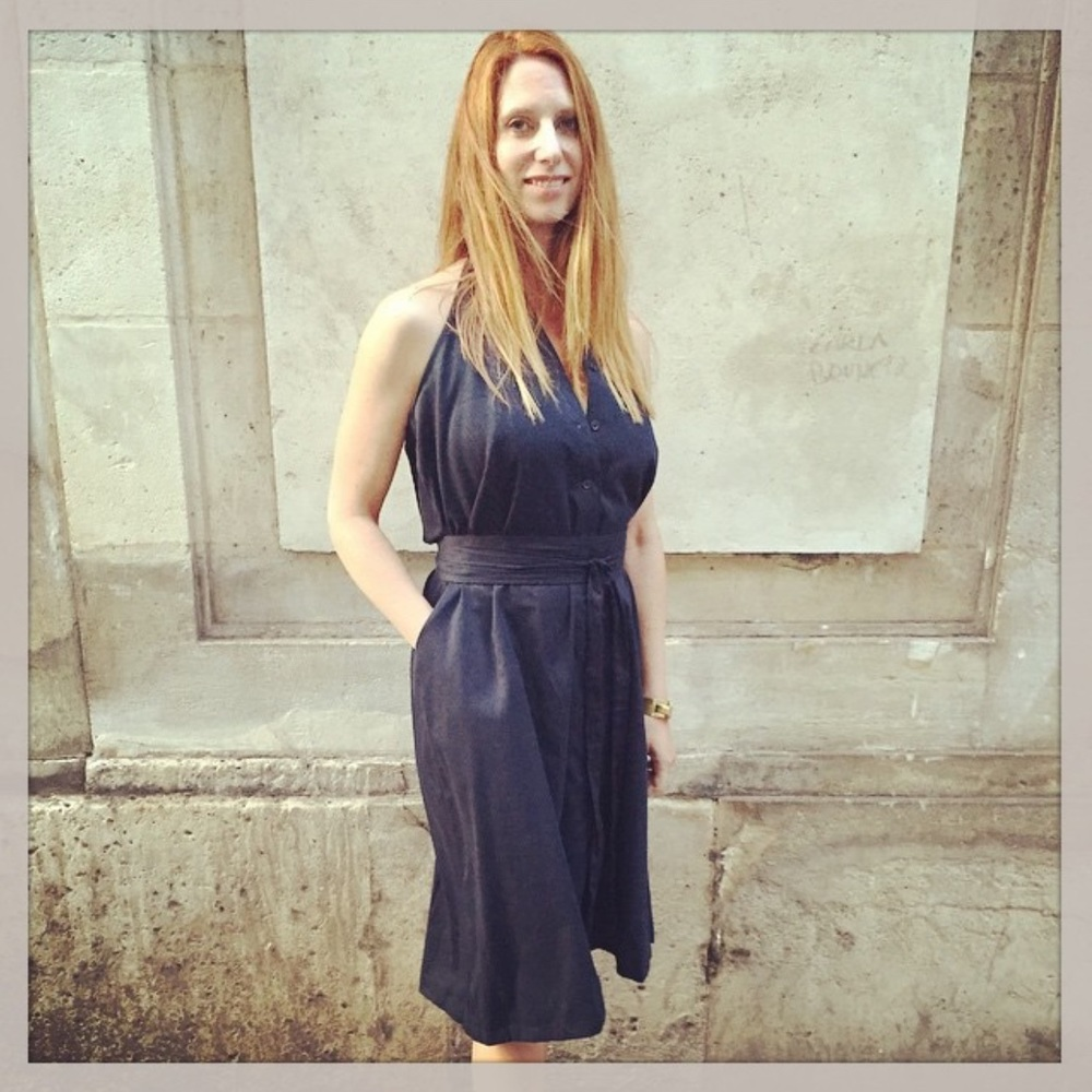Marne in THE DRESS / navy. Limited to edition of 10. Paris 2015