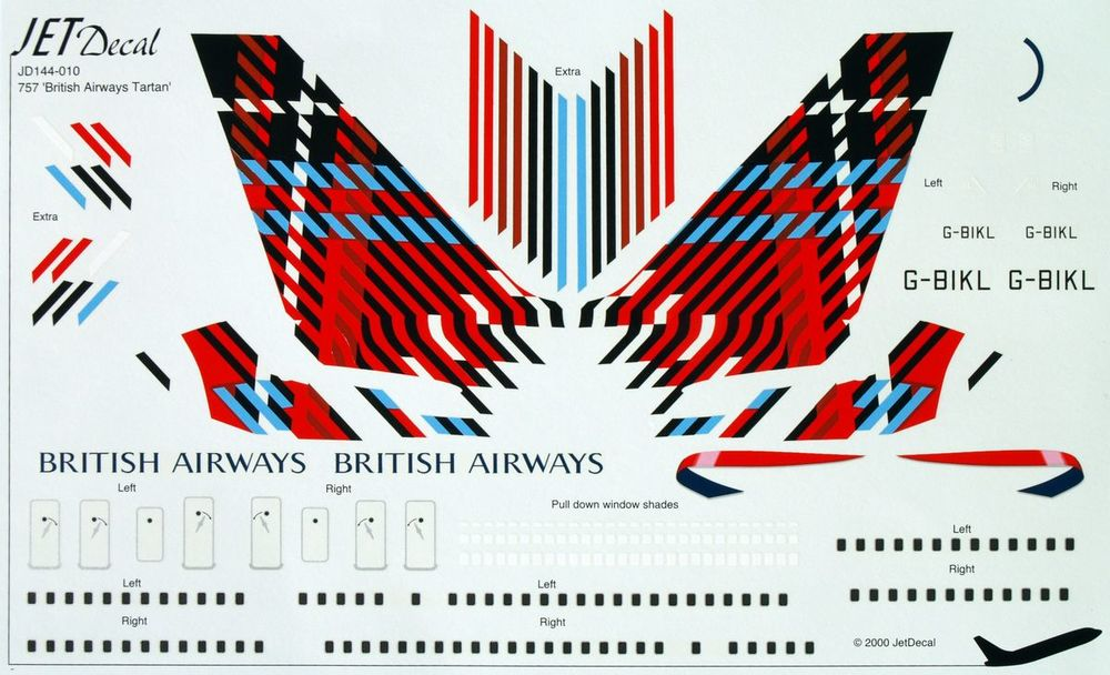 British Airways tartan plane