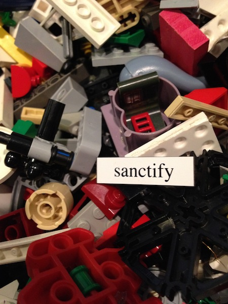 "I didn't stage this pic. It's from my phone and I had to snap it because of the magnet I found while cleaning out the bin. ""Sanctify"""