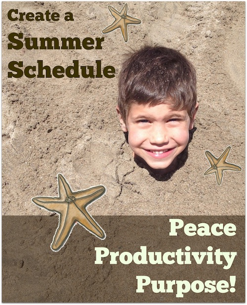 Create a Summer Schedule