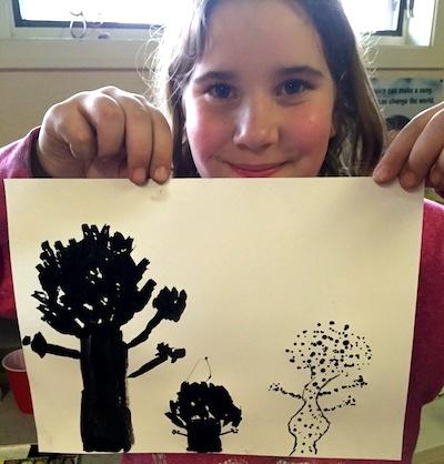 Black and White Tree Study