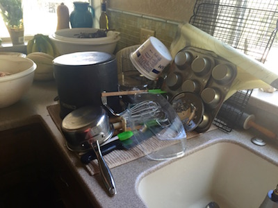 Someone has to wash all those dishes . . .