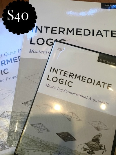 INTERMEDIATE LOGIC DVD, TEACHER EDITION, TEST & QUIZ PACKET - $40
