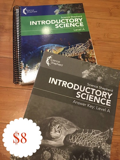 SCIENCE SHEPHERD INTRODUCTORY SCIENCE LEVEL A STUDENT BOOK & ANSWER KEY - $8
