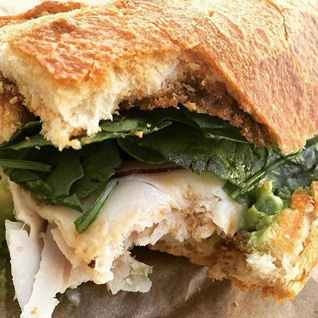 Who took a bite out of this delicious roast Turkey and avocado sandwich?  Don't you wish it was you?  #blackhoggsandwiches #yourneighborhoodsandwichshop #haveyouhadabettersandwich #silverlake #sandwiches #salads #lunch #dinner