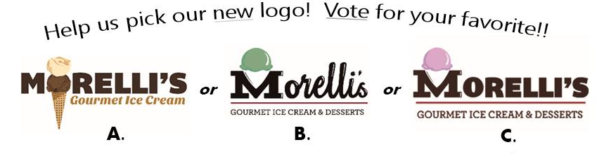 Winner:  Unknown, This is the last we saw from the Morelli's Logo Competition.