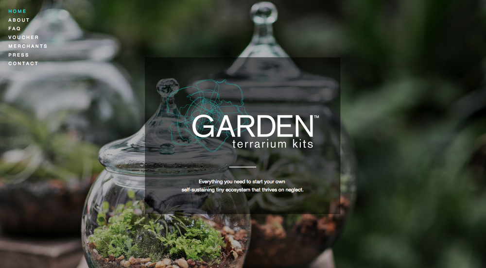 Website Design: GARDEN Terrarium Kits, Atlanta, GA