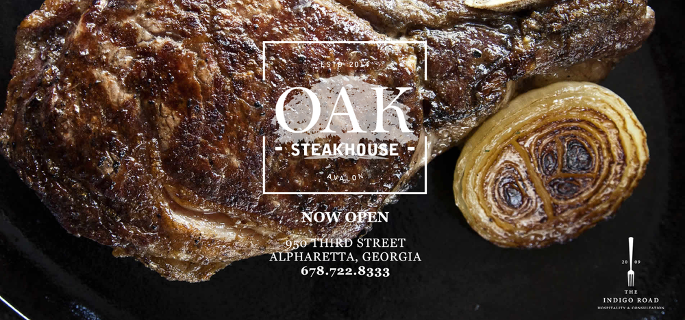 Website Design: Oak Steakhouse, Alpharetta, GA