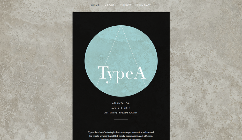 Website Design: Type A DevCom, Atlanta GA