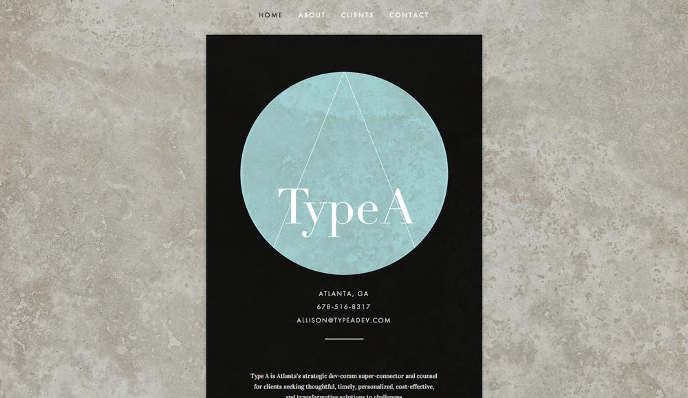 Website Design: Type A DevCom, Atlanta GA