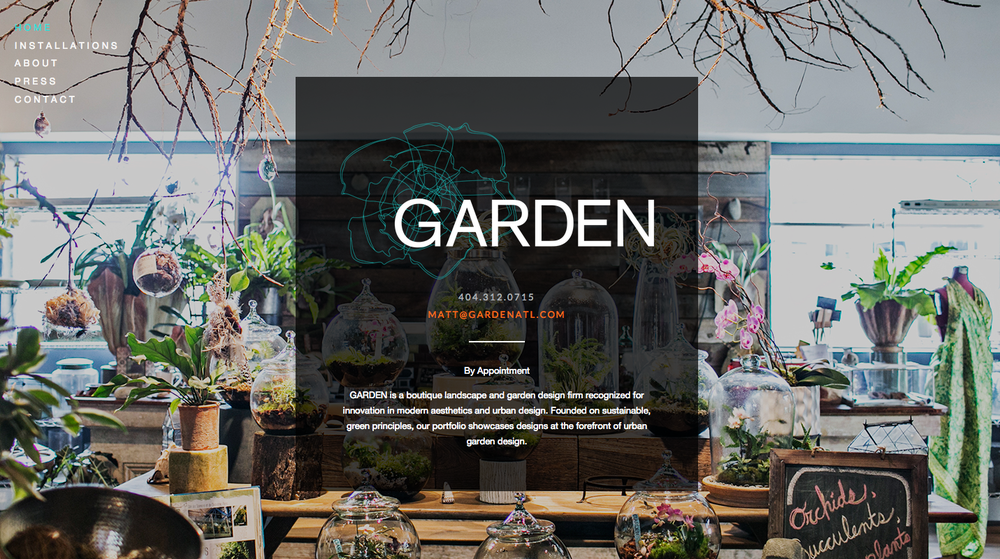 Website Design: GARDEN, Atlanta, GA