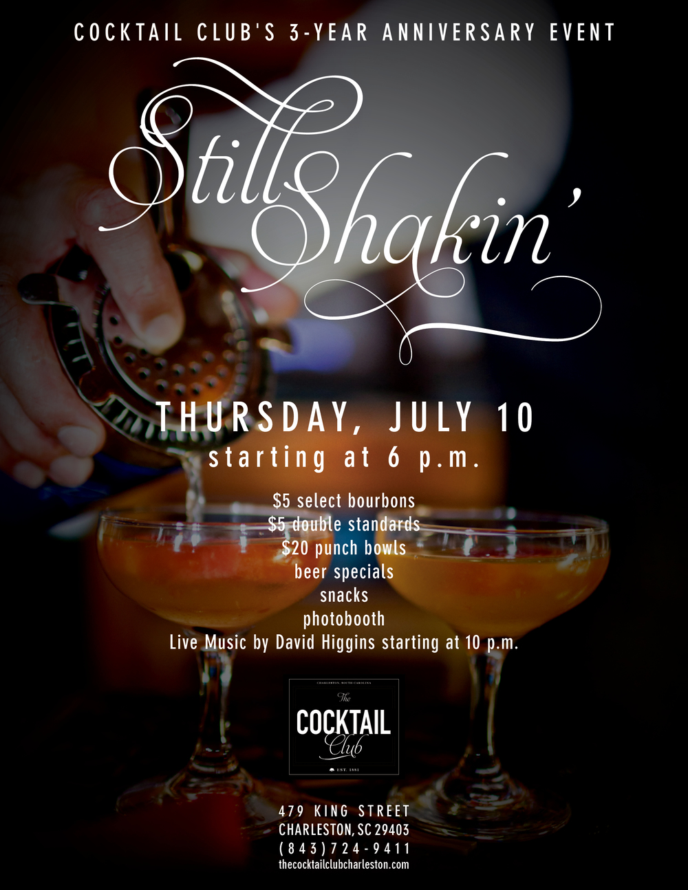 Event: The Cocktail Club, Charleston, SC