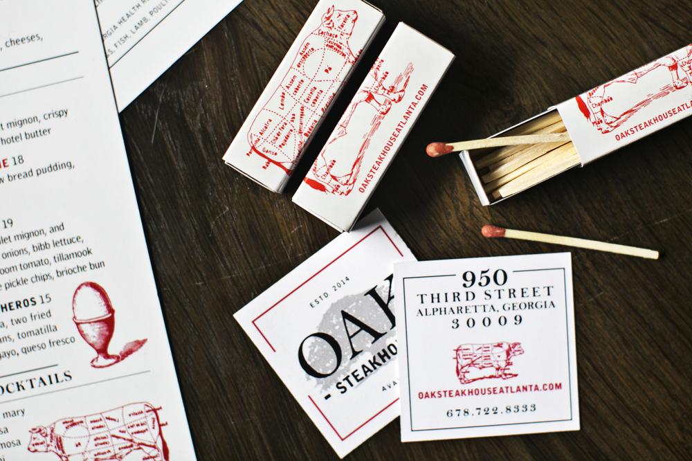 Branding: Oak Steakhouse, Alpharetta, GA