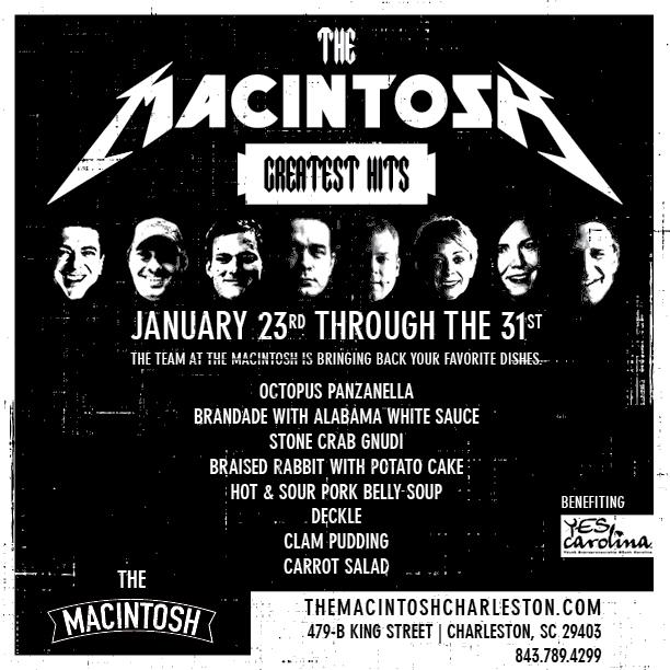 Event: The Macintosh, Charleston, SC