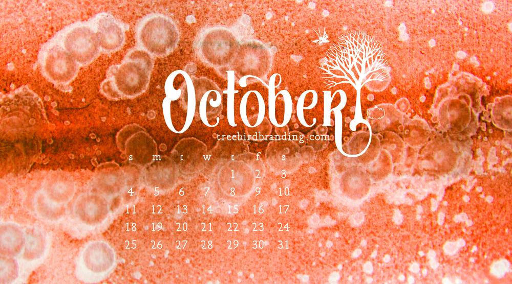 Desktop Wallpaper Calendar: October