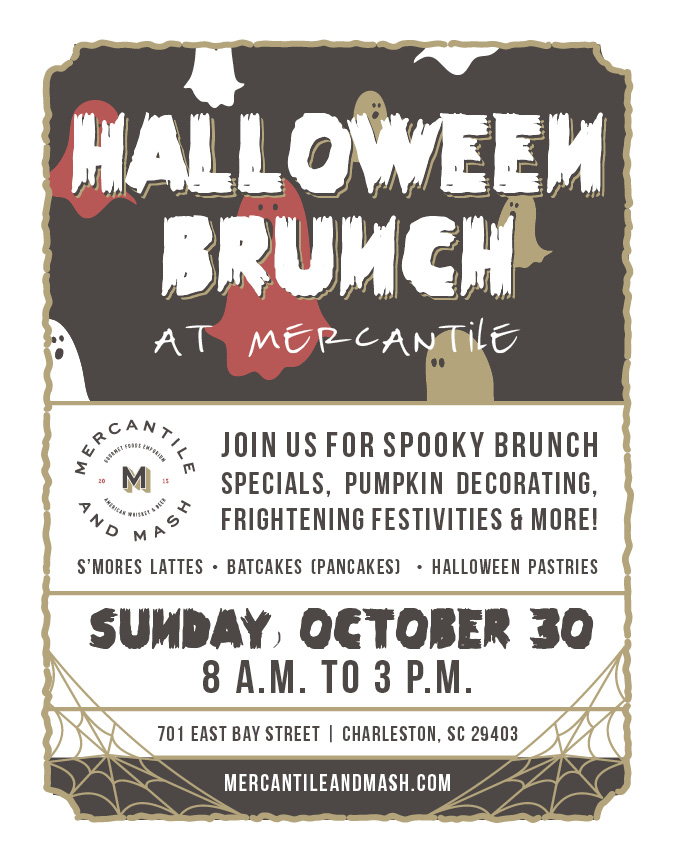 Mercantile & Mash - Halloween Brunch Graphic