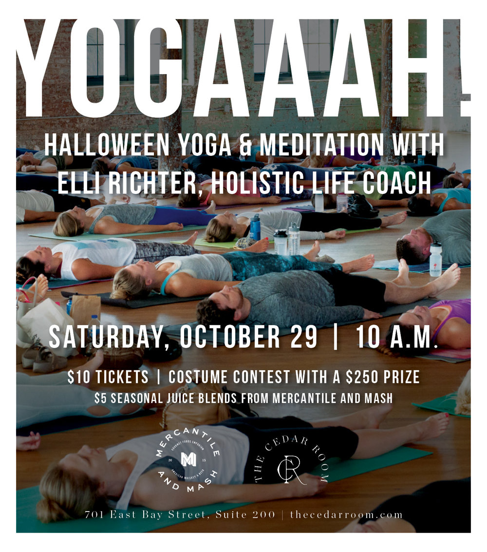 The Cedar Room - Halloween Yoga Graphic