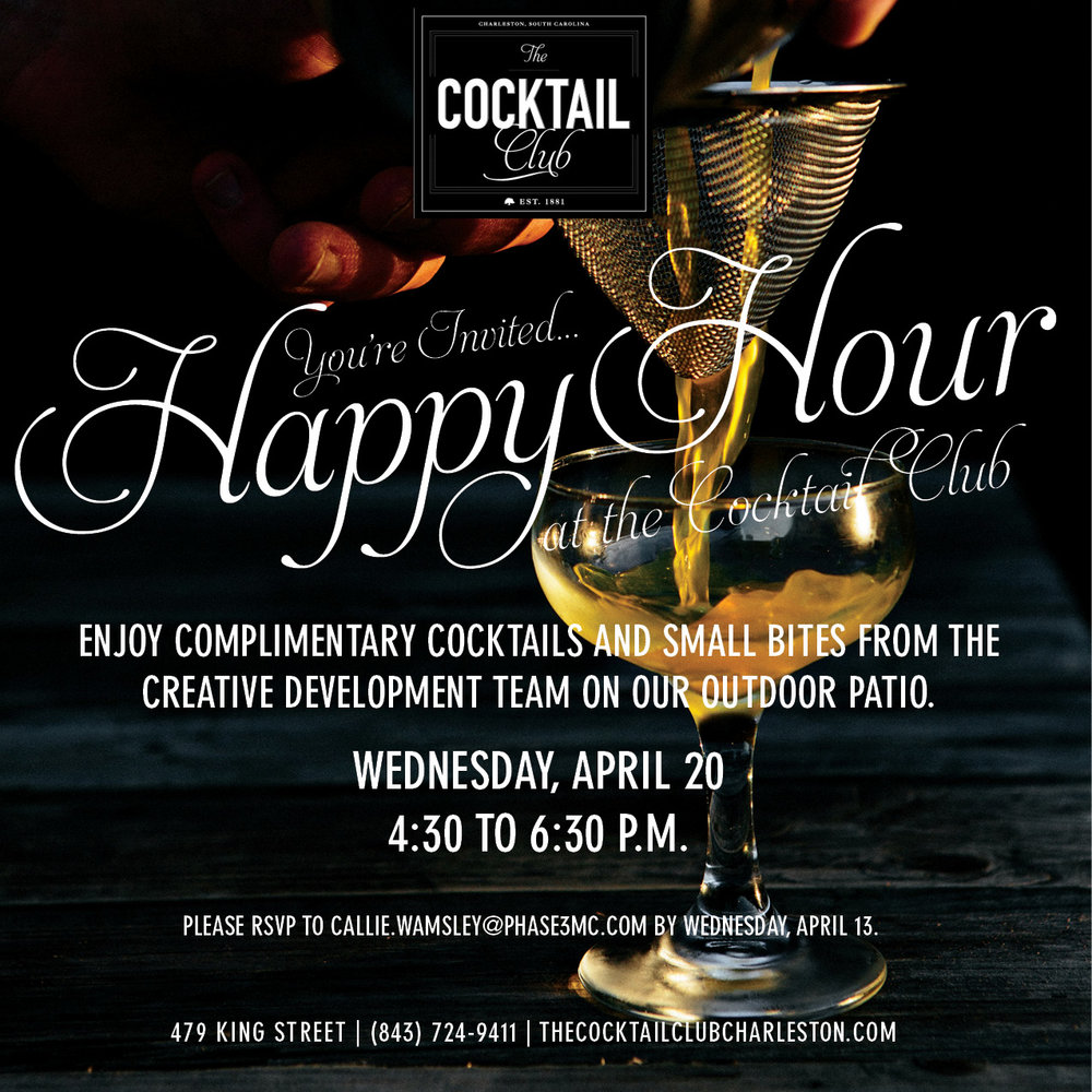 The Cocktail Club - Happy Hour Graphic