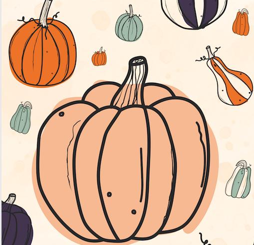 Pumpkins Things October Background 2019 Treebird Branding