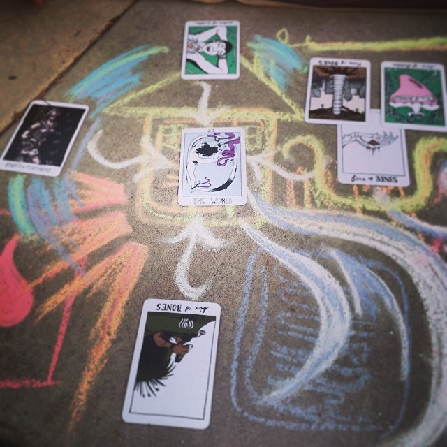 "Another ""4 Directions"" spread, using The Collective Tarot deck - and another way to trace relationships in a reading!"