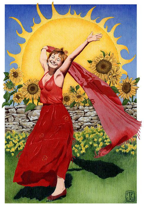 The Sun from The Gaian Tarot