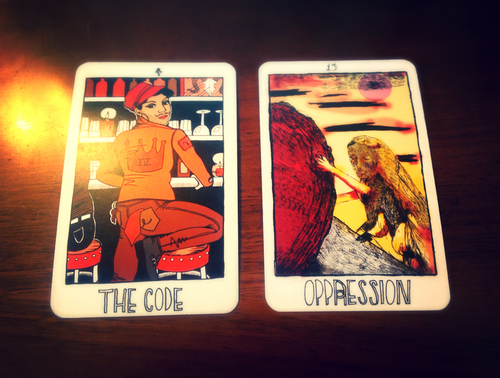 The Code/The Emperor Oppression/The Devil {Pulled through Tarotlore and reflected upon through The Collective Tarot}