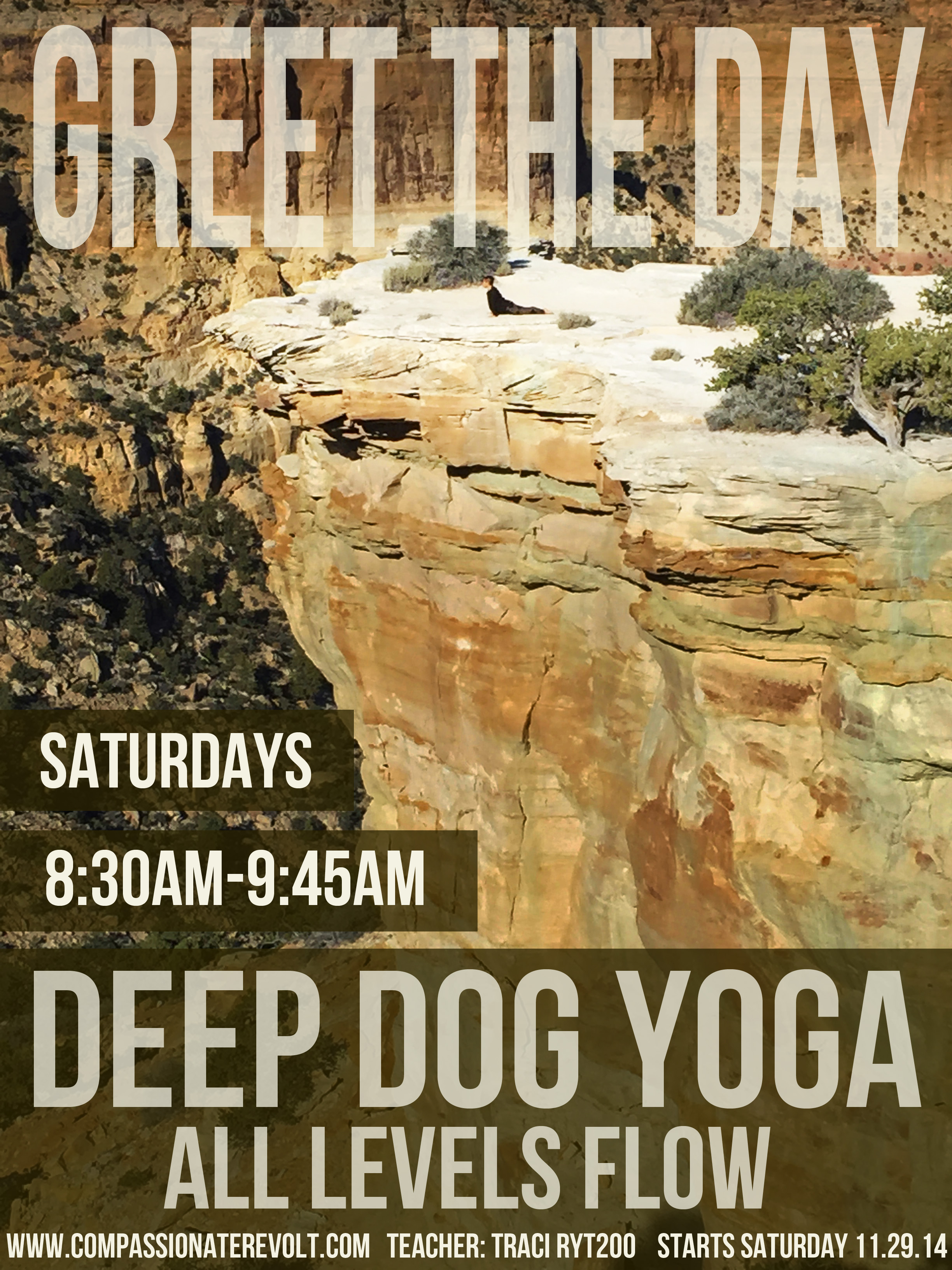 Janet Riley Subbing, This Wednesday, 10/14/15 @ 9am, Deep Dog Yoga Event Link: HERE