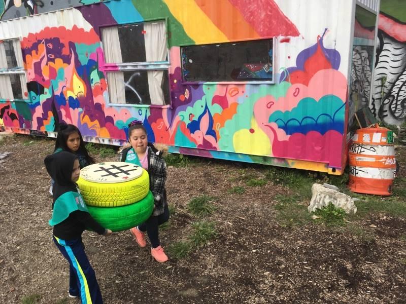 Girl Scouts checker board art park.jpg