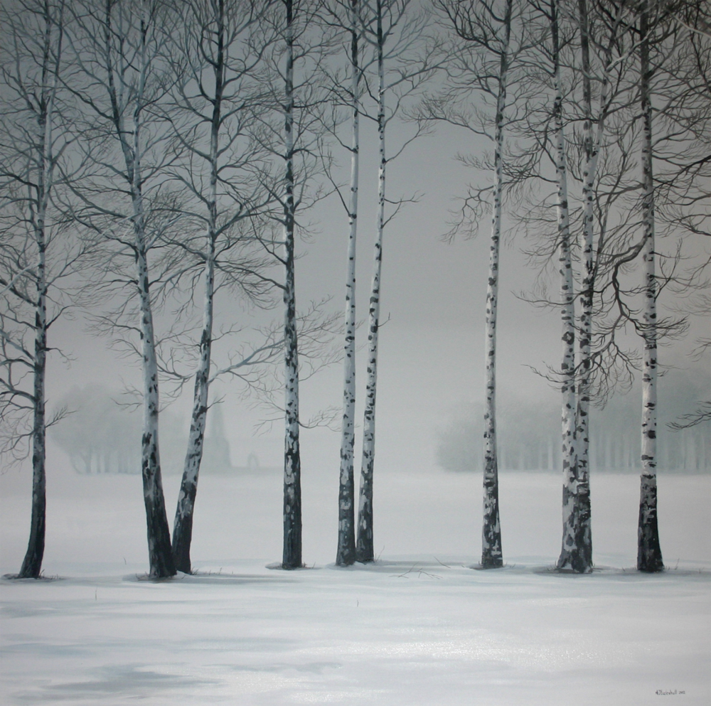 Snowy Birch Trees with Andy Eccleshall u2014 Cole Art Studio Workshops and Classes