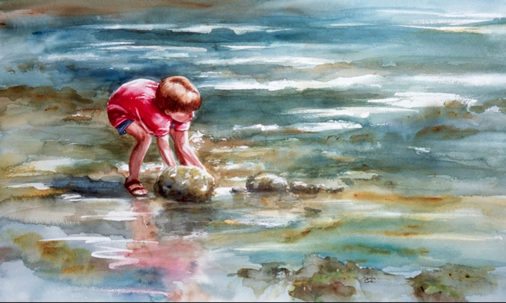 Crab Hunt_Watercolor_ Denise Cole.jpg